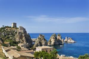View of Tonnara Di Scopello, Castellammare Del Golfo, Sicily, Italy by Massimo Borchi