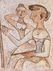 The Painter (With a Model) by Massimo Campigli
