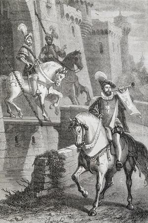 Knights on Horseback, Illustration from Ettore Fieramosca or Challenge of Barletta