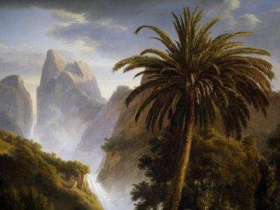 Landscape with Palm, Detail from the Death of Count De Josselin Di Montmorency, 1825