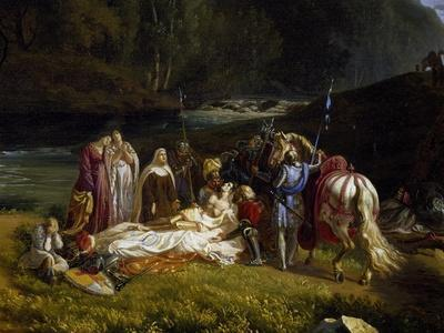 The Death of Count Josselin Di Montmorency, 1825