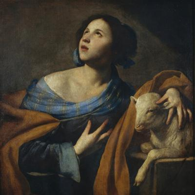 Saint Agnes by Massimo Stanzione