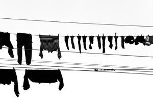 Drying Laundry on Two Clothesline by Massimo Strazzeri Photography