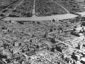 Massive Damage Caused by American Incendiary Bombs Dropped on the City Weeks Earlier