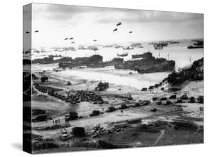 Massive Landing of US Troops, Supplies and Equipment in the Days Following D-Day on Omaha Beach