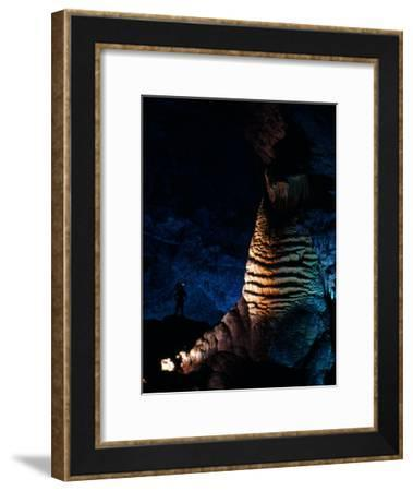 Massive Limestone Column Called the Rock of Ages, Carlsbad Caverns National Park, New Mexico-Michael Nichols-Framed Photographic Print