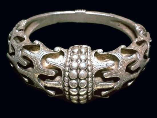 Massive silver Viking bracelet, 10th century. Artist: Unknown-Unknown-Giclee Print