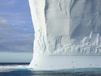 Massive Tabular Iceberg  Sculpted by Waves-John Eastcott & Yva Momatiuk-Photographic Print