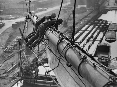 Mast Work--Photographic Print