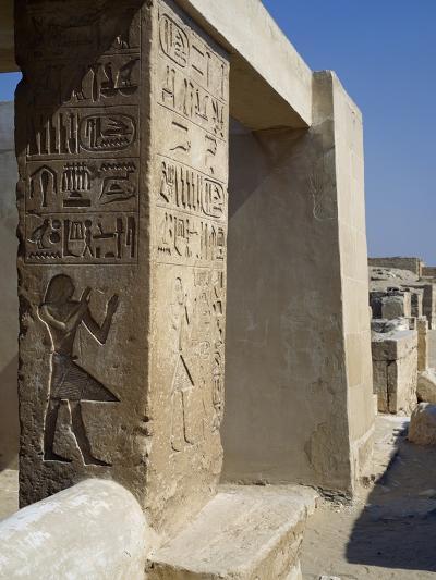 Mastaba of Unis Dignitary, Saqqara--Photographic Print