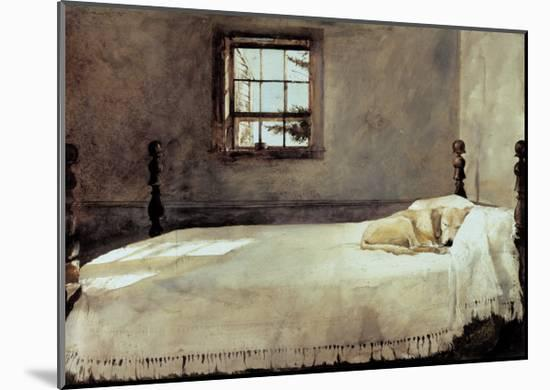Master Bedroom Mounted Print by Andrew Wyeth   Art.com