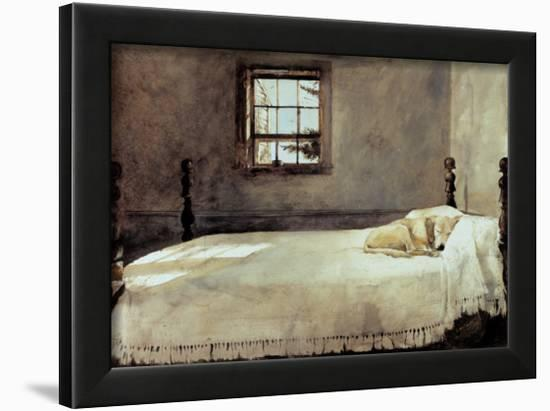 Master Bedroom Framed Art Print by Andrew Wyeth   Art.com