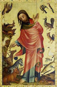 Altar Von St.Petri Hamburg (Grabower Altar), Um 1380. Erschaffung Der Tiere by Master Bertram of Minden