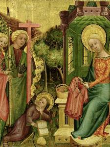 Visit of the Angel, from the Right Wing of the Buxtehude Altar, 1400-10 by Master Bertram of Minden