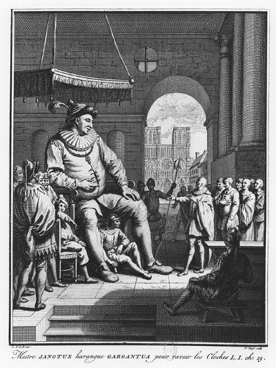 Master Janotus Harangues Gargantua to Give Back the Bells from 'The Life of Gargantua and Pantagrue-Pierre Tanje-Giclee Print