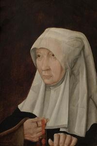 Portrait of Jacomina Claesdr Van Ruyven, Wife of Arent Franckensz Van Der Mee by Master of Alkmaar