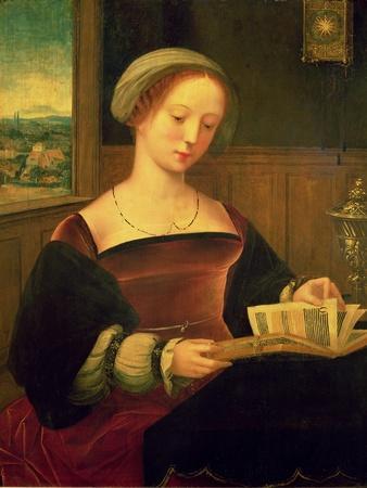 Mary Magdalene Reading (Oil on Panel)
