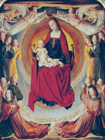 Coronation of the Virgin, Centre Panel from the Bourbon Altarpiece, circa 1498