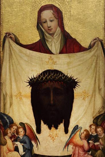 Master of Saint Veronica, St. Veronica with the Holy Kerchief. C. 1420--Giclee Print