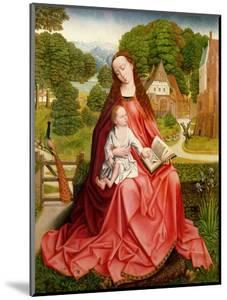 Virgin and Child in a Garden by Master of the Embroidered Foliage