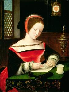 St. Mary Magdalene Writing by Master of the Female Half Lengths