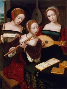Three Musicians, c.1530 by Master of the Female Half Lengths