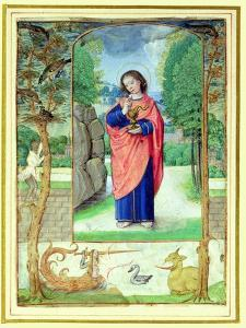 St. John the Evangelist, Form a Book of Hours (Vellum) by Master of the Prayerbook
