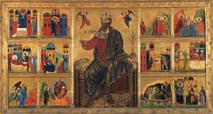 St. John Enthroned and Stories of his Life, Master of the St. John the Baptist Panel, 13th c. Italy by Master of the St John the Baptist Panel