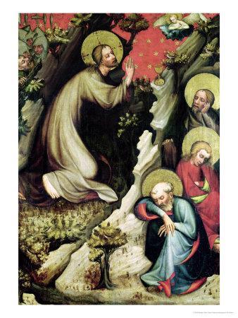 Jesus in the Garden of Gethsemane, from the Trebon Altarpiece, circa 1380
