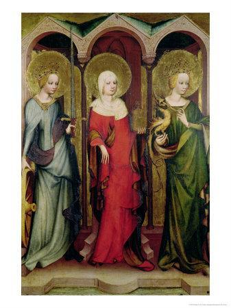 St. Catherine of Alexandria, St. Mary Magdalene and St. Margaret of Antioch, circa 1380