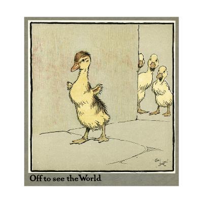 Master Quack the Duckling Sets Off-Cecil Aldin-Giclee Print