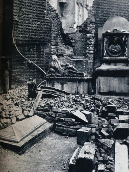 'Master's House: with tombstone in commemoration to Oliver Goldsmith, 1941'-Unknown-Photographic Print