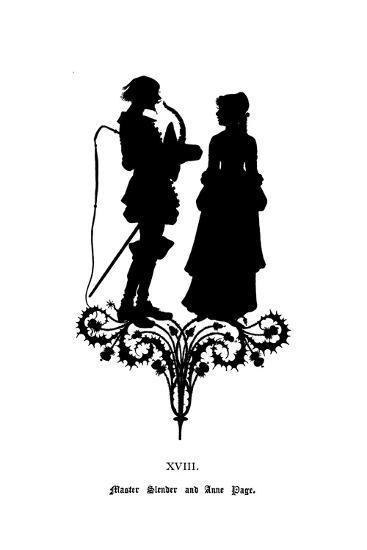 Master Slender and Anne Page-Paul Konewka-Giclee Print