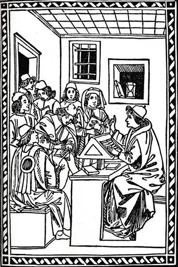 Master with His Students. (Christoforo Landino), 1492, (1917)--Giclee Print