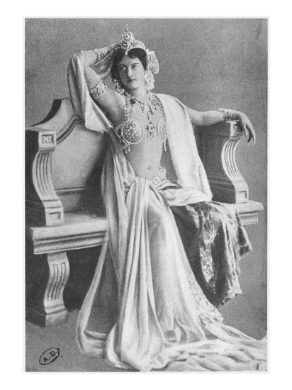 Mata Hari, 1910--Giclee Print