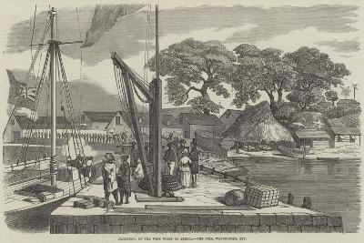 Matacong, on the West Coast of Africa, the Pier, Warehouses, Etc--Giclee Print