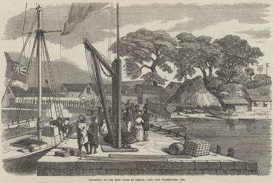 Matacong, on the West Coast of Africa, the Pier, Warehouses, Etc