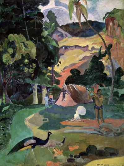 Matamoe (Death, Landscape with Peacock), 1892-Paul Gauguin-Giclee Print