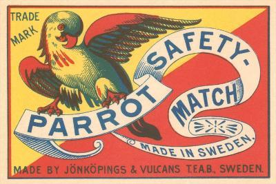 Match Box with Parrot--Art Print