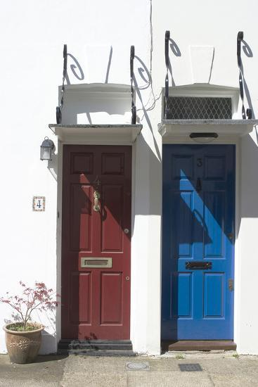 Matching Red and Blue Doors-Natalie Tepper-Photo