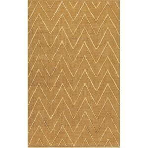 "Mateo Chevron Area Rug - Gold/Beige 5' x 7'6"""