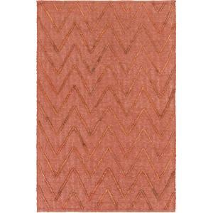 "Mateo Chevron Area Rug - Rust/Brick 5' x 7'6"""