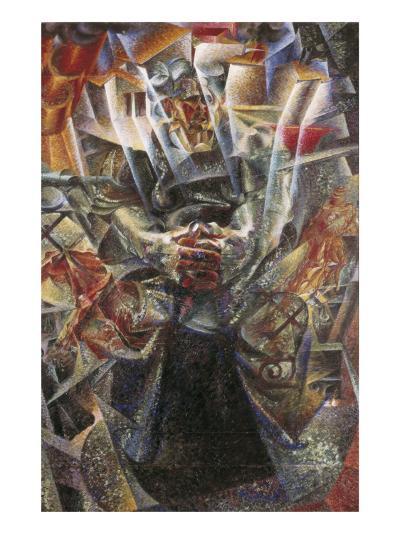 Materia-Umberto Boccioni-Art Print