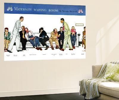 """Maternity Waiting Room"", July 13,1946-Norman Rockwell-Wall Mural"