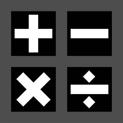 Math Symbols Square - Black-Color Me Happy-Art Print