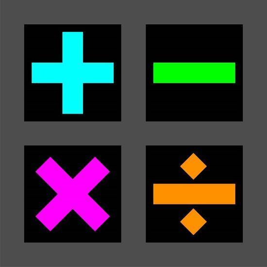 Math Symbols Square Colorful Symbols Art Print By Color Me Happy