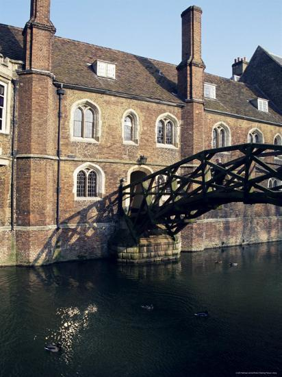 Mathematical Bridge, Queens' College, Cambridge, Cambridgeshire, England, United Kingdom-Michael Jenner-Photographic Print