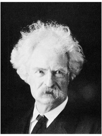 Mark Twain, American Novelist, in His Later Years, C1890S
