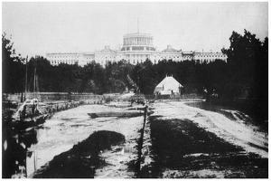 The Capitol Without its Dome, Washington DC, USA, C1858 by MATHEW B BRADY