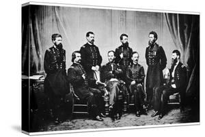 William Tecumseh Sherman and His Generals, American Civil War, 1865 by MATHEW B BRADY